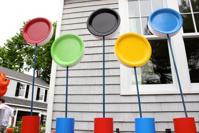 Olympic paper plate rings