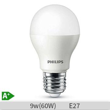 Bec led Philips forma clasica 9W, A60M, E27, 230V, mat, 15000 ore, lumina calda…