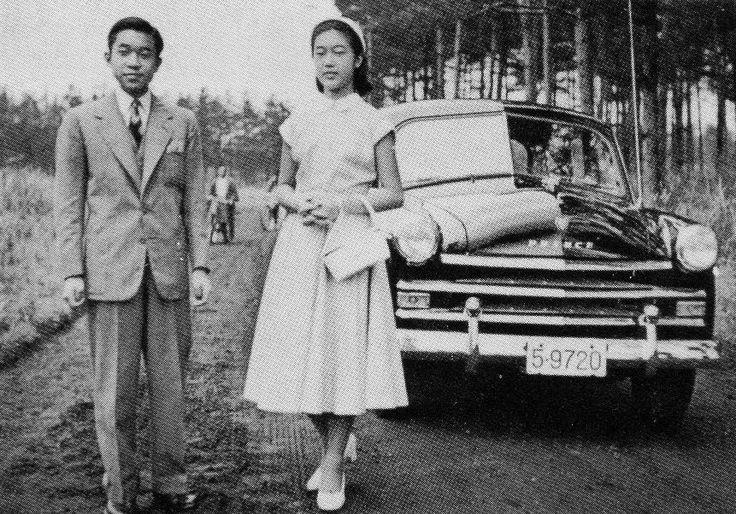 Princess Takako and Crown Prince Akihito