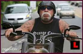 Sitting between 2 red lights on PCH, in the other lane I spy Orange County Choppers Paul Teutul Sr and Paul Jr