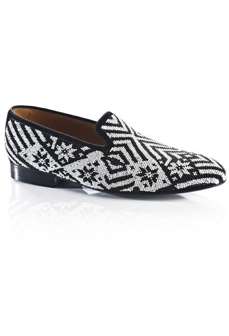 LOUIS LEEMAN Black and white loafer with pearls € 490,00   #LOUIS #LEEMAN #LOAFER #LEATHER #FOR #GENTELMAN