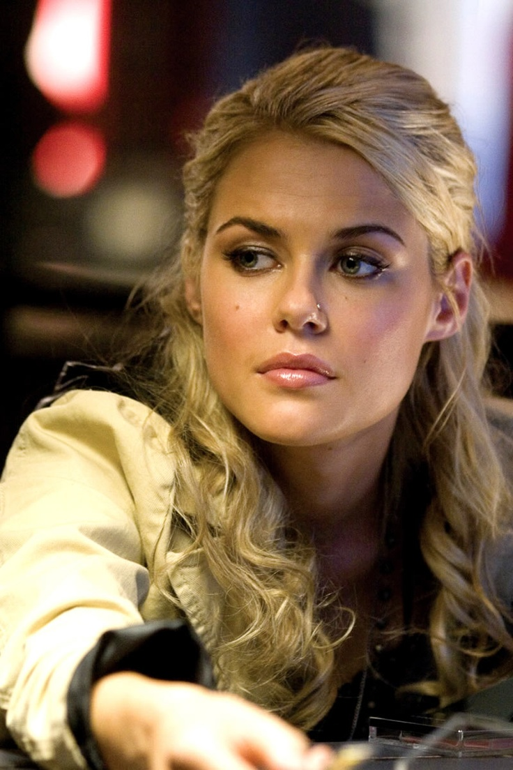 "Rachael Taylor in ""Transformers"". Piercing my nose because of her."