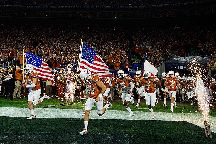 Texas Longhorns enter NRG Stadium for the 2014 AdvoCare V100 Texas Bowl.