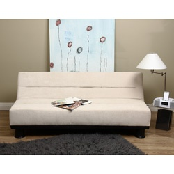 Cream Couch Sofa Bed Jack Knife Pull Out Guest Futon Living Room Sit Relax New | eBay