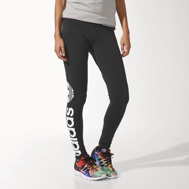adidas - Leggings med trekløver, str. 38 (200 kr. - køb online)
