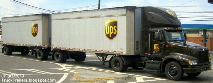 Ups double trailer | UPS | Pinterest | Trailers