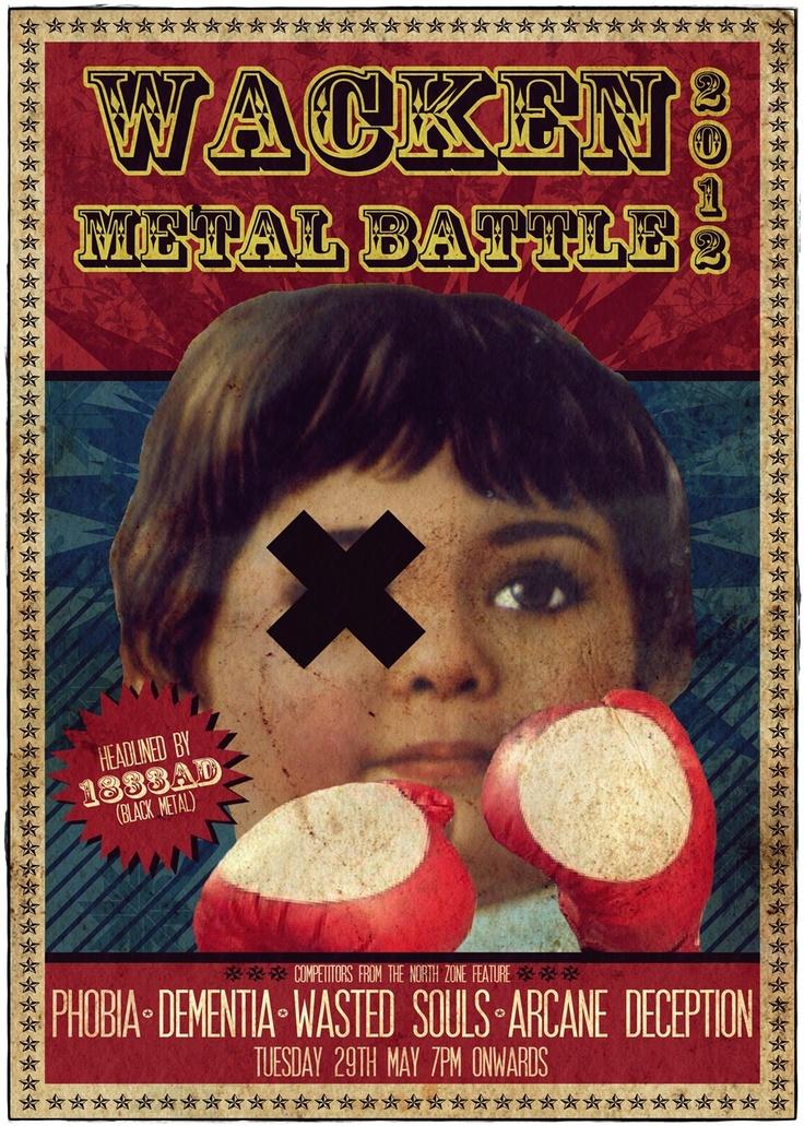 Gig poster for Wacken Metal Battle.