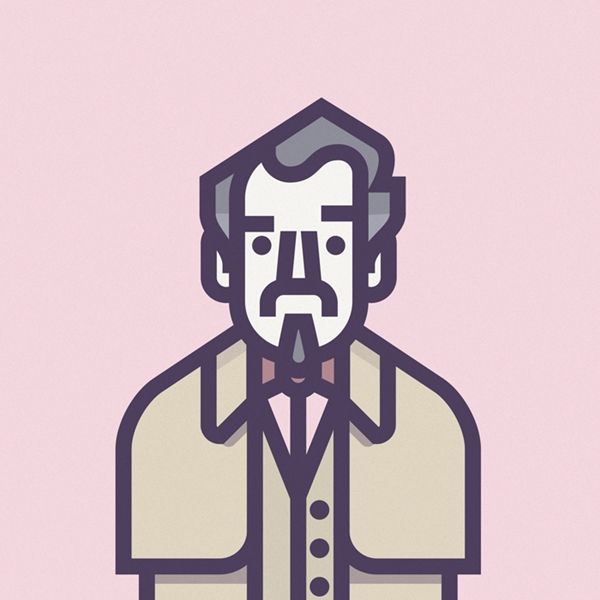 An Illustrated Series Featuring The Stars From Coen Brothers' Films - DesignTAXI.com