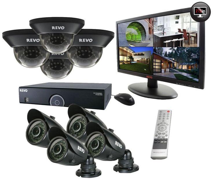 Revo 16 Channel 2TB 960H DVR Surveillance System w/ 8 700TVL Night Vision Camera #RevoAmerica
