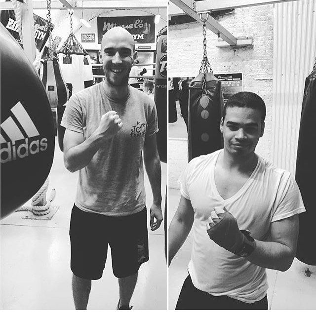 #regram from @baldygram3000  with his training partner @jbreeze010  I get to watch this one in his first #whitecollarboxing match tonight @cityboxer_central_london  If anyone fancies a bit of amateur boxing in #Southwark tonight DM me as I have some spare tickets!  #fitfam #ukfitfam #boxing #fitlondoners #HIIT #cardio #workout #fitness #london #funandfitness #thering #southwark #cityboxer #amateurboxing by ssseasonsss90