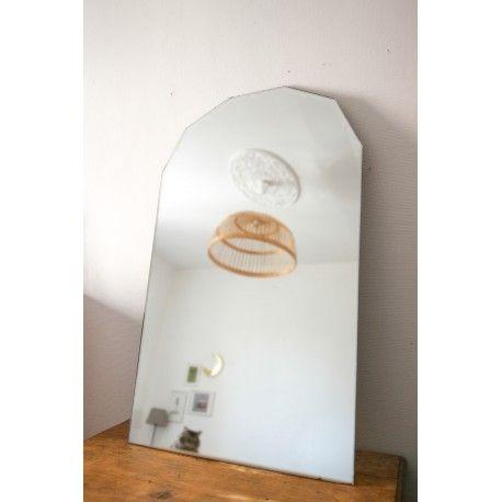 grand miroir biseauté  d'occasion vintage, design, scandinave, industriel, ancien vendu sur Collector Chic dépôt-vente