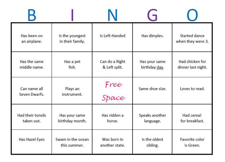 The 25 best ice breaker bingo ideas on pinterest group for Ice breaker bingo template