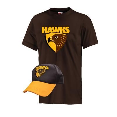 Hawks - Youths (Tee and Cap) in a Pack $30