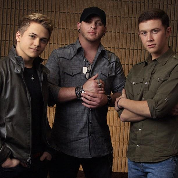 Hunter Hayes, Brantley Gilbert, and Scotty McCreery -- it doesn't get any better than this right here ;) (better than this reference btw)