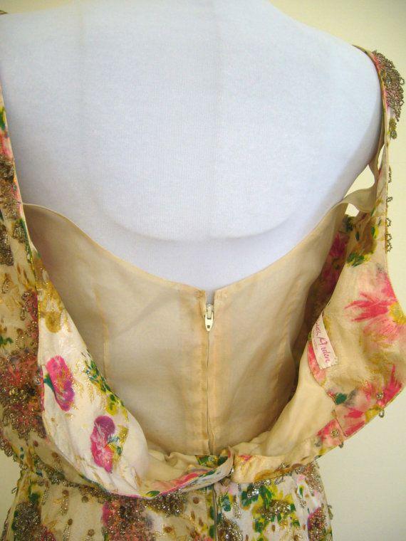 RESERVED Gorgeous Mid Century Couture ELIZABETH por Poshporscha