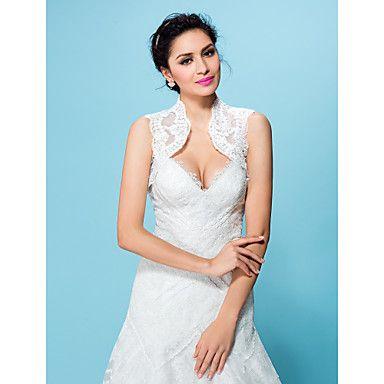 bruiloft wraps bolero kant wit / beige bolero schouderophalen - EUR € 29.39