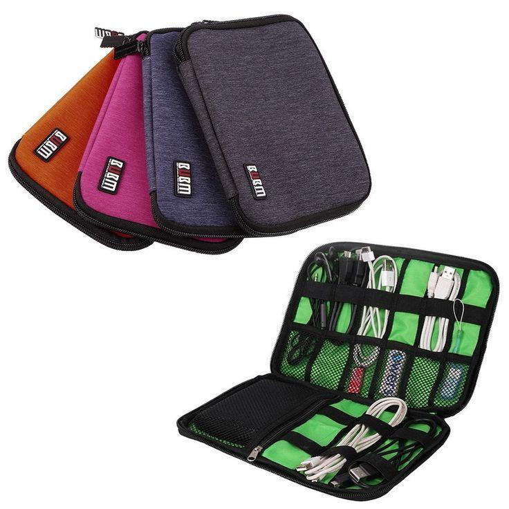 Mini Earphone Data Cables USB Flash Drives Travel Case Digital Storage Bag I5