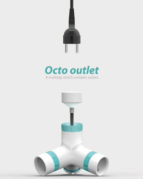 The Octo Is A Multi Tap And An Extension Cord. It Features Retractable  Cables