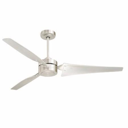 Loft - Energy Efficient Modern 3 Blade Ceiling Fan - Brushed Steel