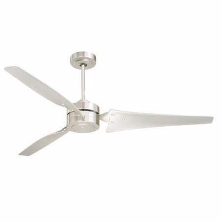 Loft - Energy Efficient Modern 3 Blade Ceiling Fan - Brushed Steel
