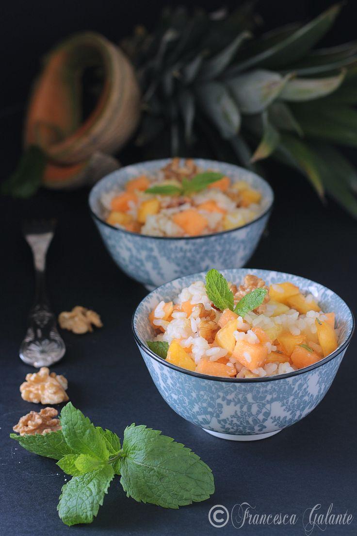 Insalata di riso ricetta con frutta velocissima