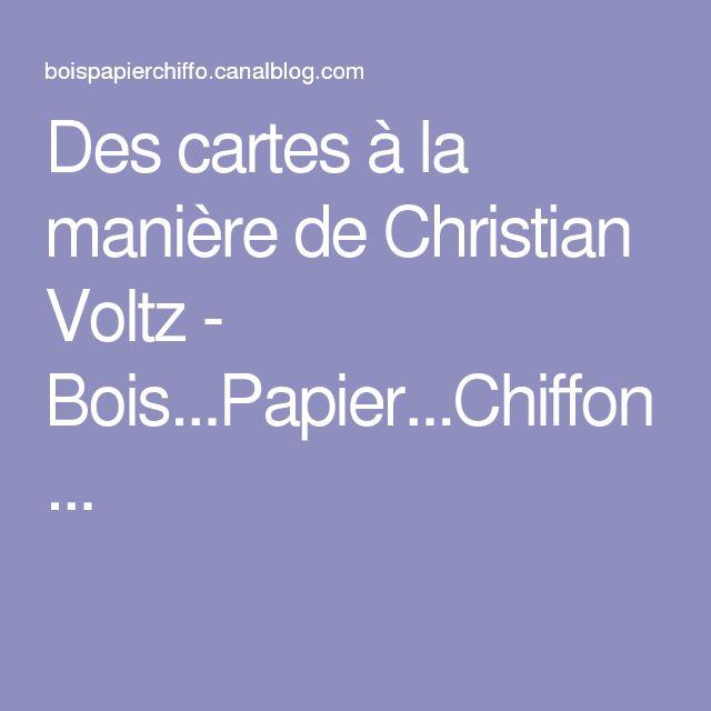 Twee bijzondere kaarten (voor Moederdag en Vaderdag) op de wijze van Christian Voltz.  Des cartes à la manière de Christian Voltz - Bois...Papier...Chiffon...