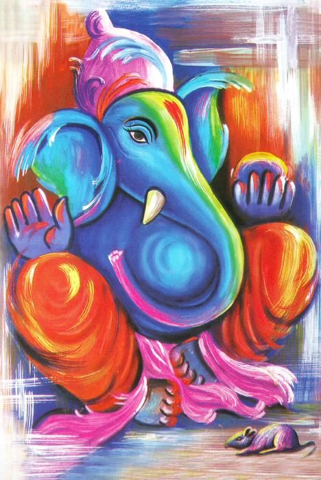 Cool painted Ganesha...