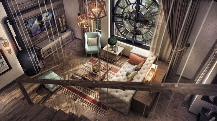 vintage/ industrial living roomby Stoica Mario