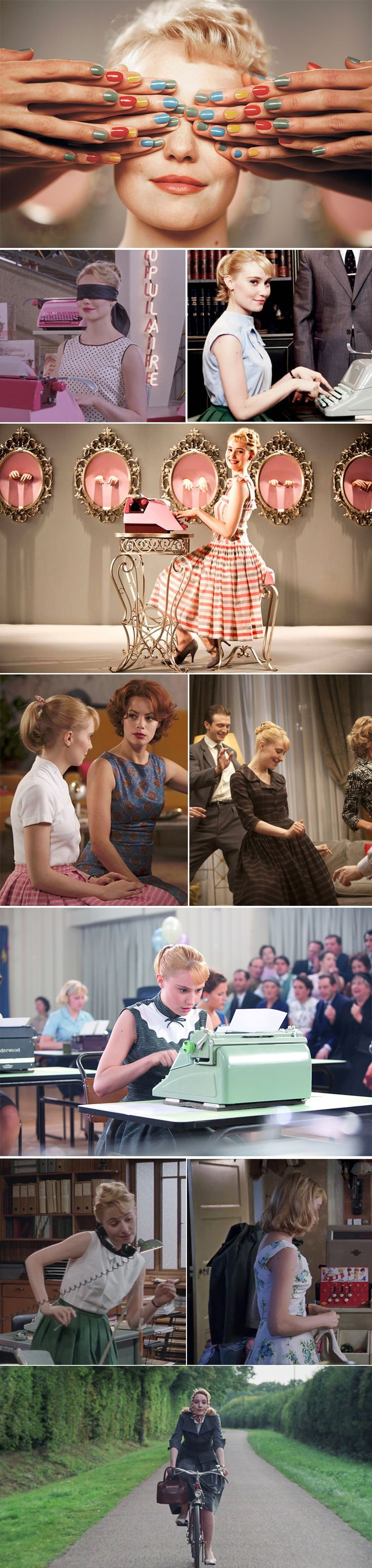 Rose Pamphyle style, Populaire. I love the outfits Rose (Deborah) wears in this film!