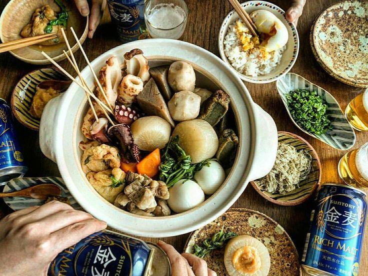 寒い🌀  我が家にもおでんの季節がやってきました♪ ほくほく  お供はサントリー様から頂いた #金麦 です! お鍋で暖まった体で飲む冷たい金麦がまた美味しい(^^) 種は定番のものから、揚げ生麩や里芋を入れて。 甘みそ、辛子、とろろはお好みでつけて♪  おうち鍋は旬の野菜や家族の好きな具材を盛り込めて、いつでも新しい発見がいっぱいで楽しい♪  今度はご当地おでんも作ってみたいねーって盛り上がりました。  ちなみに気になるのは 名古屋のみそおでんと姫路の生姜醤油おでん(^^) #金麦のある食卓 #おでん#鍋#山田義力#安齋新#前野直史#無印良品#中園晋作#伊藤聡信#ロカリクッキング#kaumo#料理 #おうちごはん#暮らし#dinner#晩ごはん#クッキングラム #foodstagram #instagramjapan#igersjp#lin_stagrammer#デリスタグラマー#ロカリキッチン#kurashiru#ロカリ