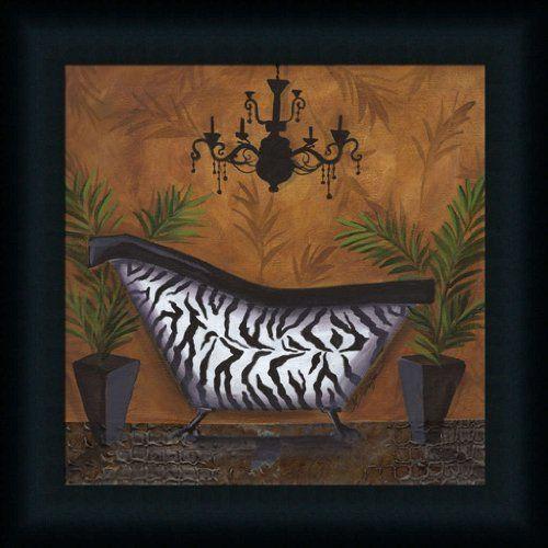 Zazzling zebra print bathroom decor wall art my favorite for Leopard print bathroom ideas