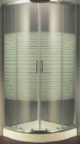 Box Doccia Cristallo Serigrafato 6 mm Semicircolare – Apertura Scorrevole