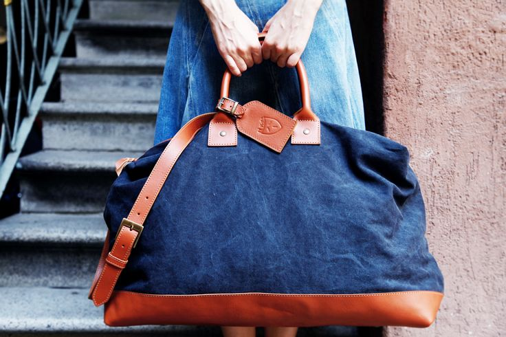 LEAVE FOR.... Travel Bag by El Mato  #summerdepartures #travelbag #elmato  #madeinitaly #originaldesign #unconventionalstyle #summerstyle #jeansmood #summercolors #blue #readytogo #forher #forhim #onetsy