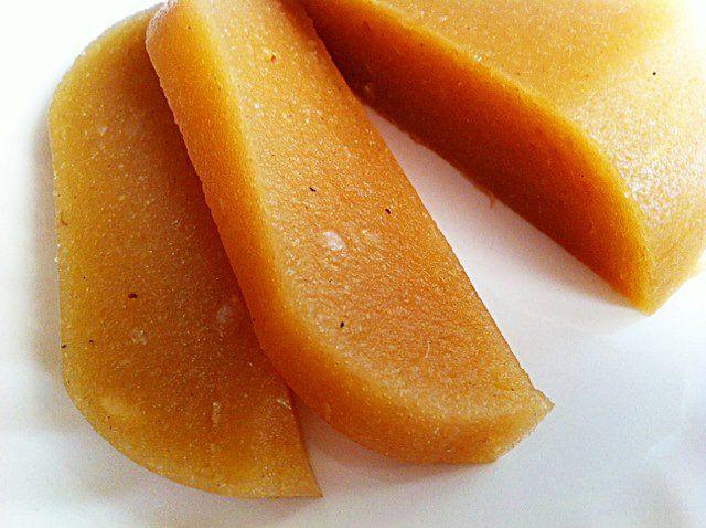 MEDIO. Dulce de manzana sin azúcar.