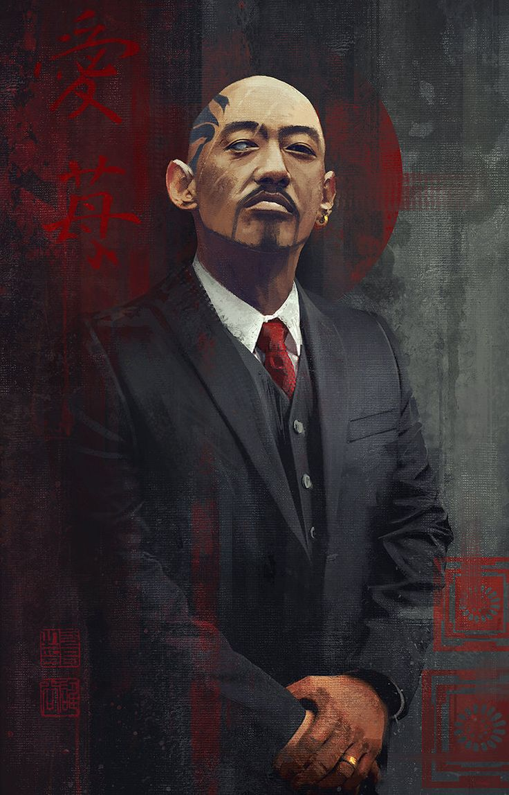 Yakuza, Sergey Zabelin on ArtStation at https://www.artstation.com/artwork/yakuza-e5dced20-3c82-4d54-945b-c3a2c31672dc