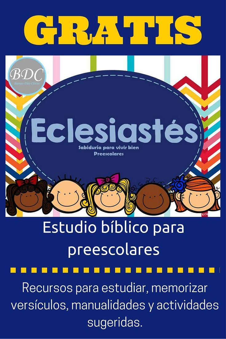Estudio bíblico para niños y niñas en edad de 2 a 5 años. Con guía para lecturas semanales,memorizar versículos, manualidades y actividades sugeridas.