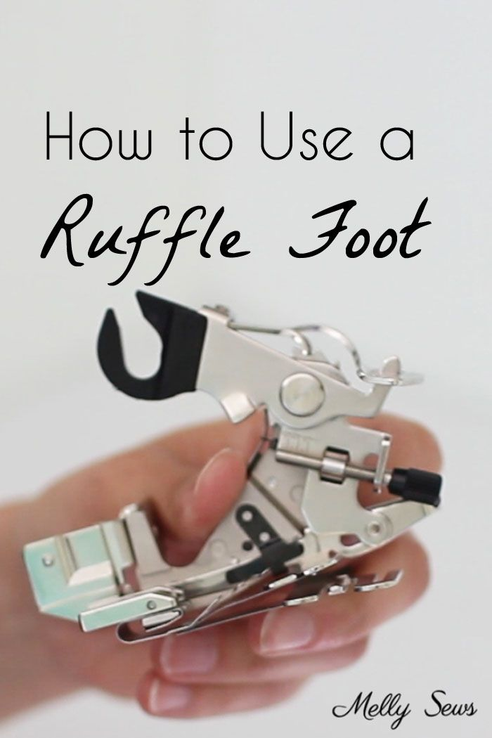 How to use a ruffle foot to make ruffles - how to sew ruffles - Melly Sews