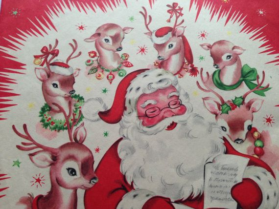 Vintage Christmas Wrapping Paper: