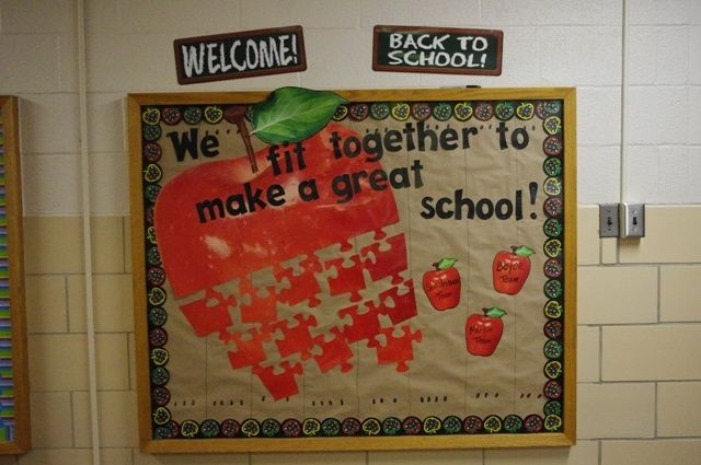 We Fit Together Apple Puzzle Bulletin Board Idea