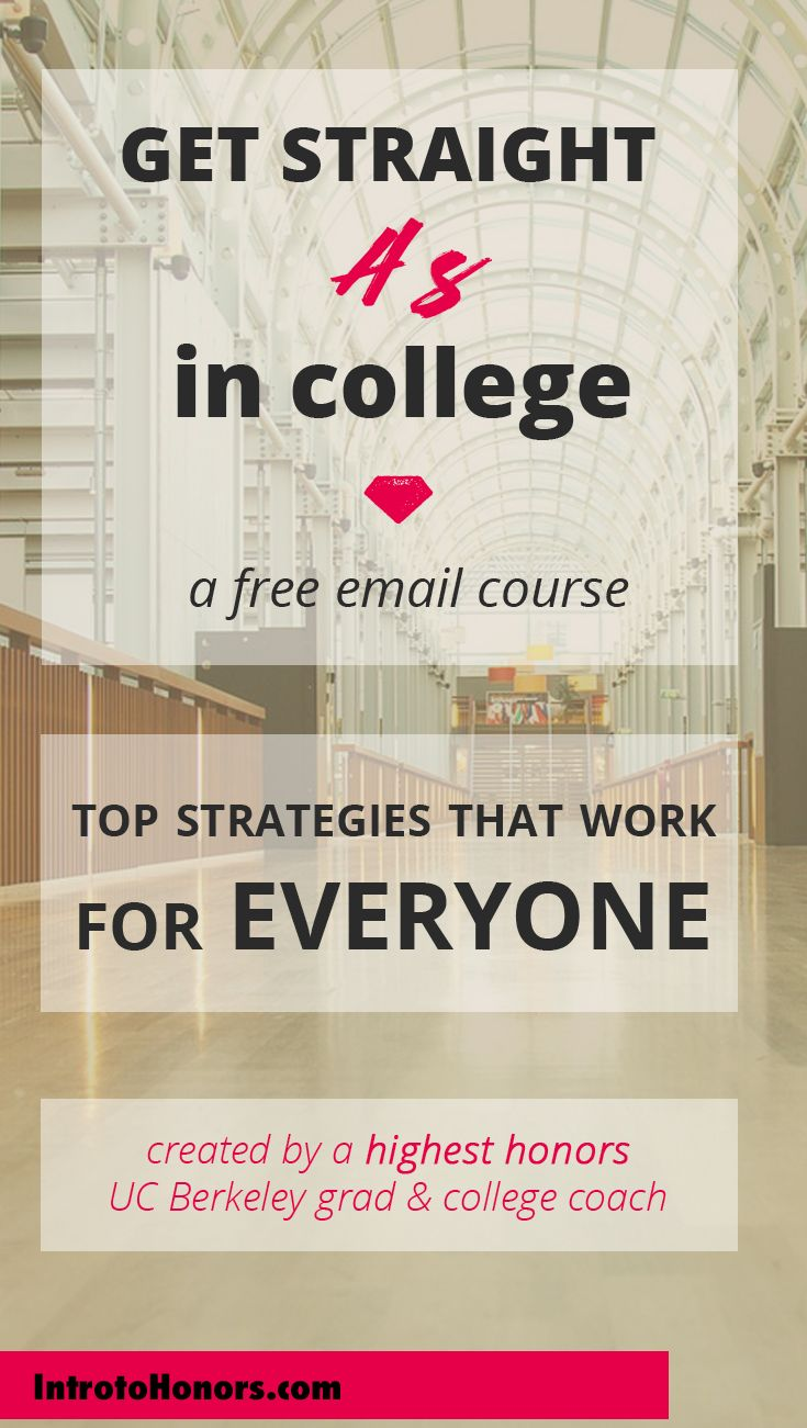 The BEST free course to show you how to get straight A's in college. The top strategies from a highest honors grad and international college success coach.