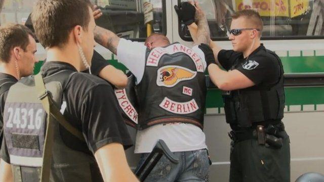Property Of Hells Angels - Germans crack down on Hells Angels bikers - BBC News