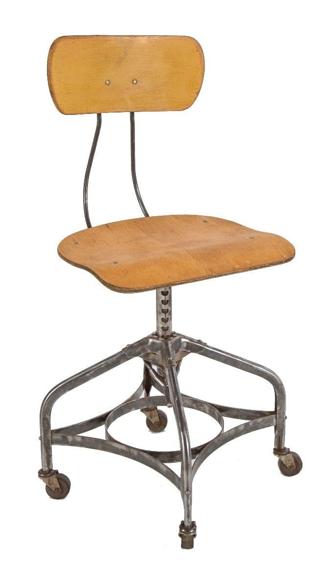 "refinished vintage american industrial ""uhl art steel"" adjustable"