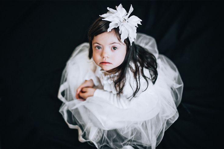 Zlata, down syndrome, girl, portrait