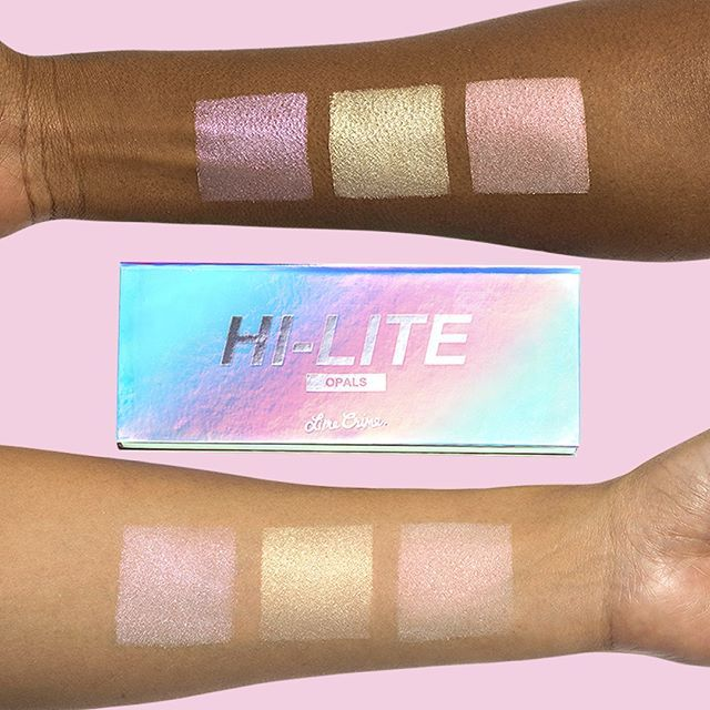 Pink. Gold. Peach. All you need to glow! http://www.dollskill.com/lime-crime-hi-lite-opal-palette.html