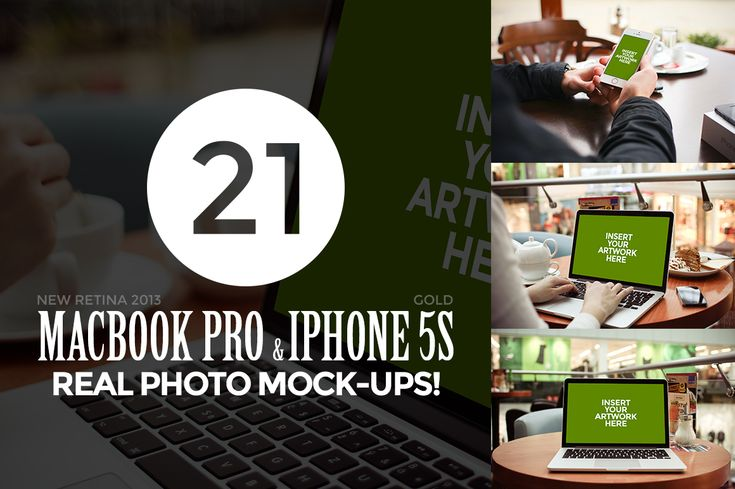 21 MacBook & iPhone Photo Mock-Ups! by Viktor Hanacek on Creative Market