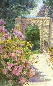 Archway of Roses by Katherine  Berlin