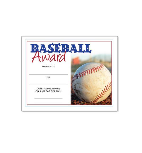 1000 images about baseball on pinterest baseball mom baseball party and baseball teams for Baseball award certificate