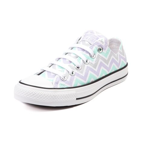 Women's Mint/Grey Spots & Stripes CONVERSE All Stars. Size 4.