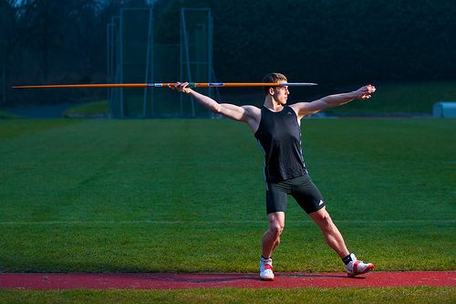Photo shoot with Michael Sweeney from Team GB Decathlon, He wanted a power shot for his new blog