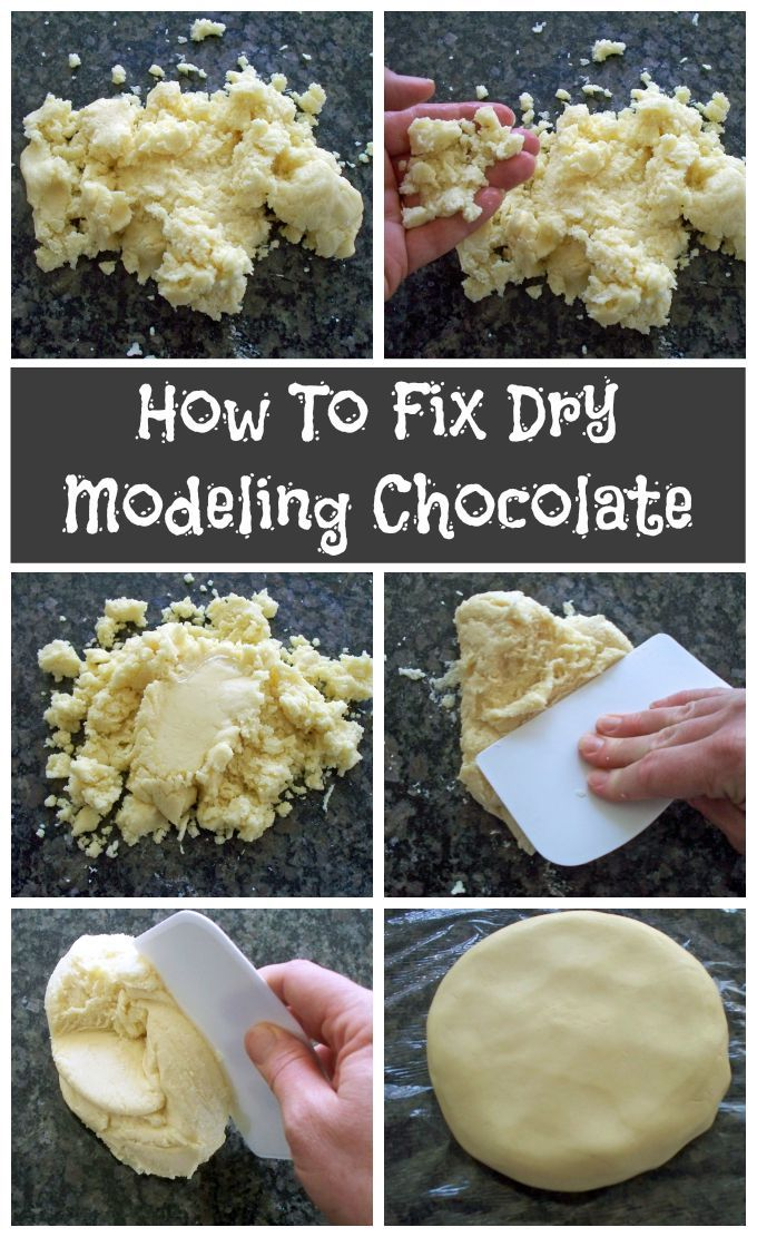 How to fix dry modeling chocolate. Step-by-step instructions.